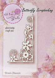 Corner Flourish Die Creative Steel Die Cutting Dies WILD ROSE STUDIO SD003 New