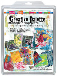 Creative Palette Monoprinting Plate Mixed Media Art STAMPENDOUS CP811 New