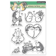 Critters In Love, Clear Unmounted Rubber Stamp Set PENNY BLACK- NEW, 30-208