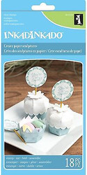 CUPCAKE CONTAINER Clear Unmounted Rubber Stamp Set INKADINKADO 60-31253 NEW