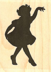 Curtsy Silhouette, Wood Mounted Rubber Stamp IMPRESSION OBSESSION - NEW, D13303