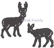 Deer Buck & Doe Craft Steel Dies by Marianne Design Craftables Die CR1289 New