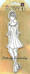 Doll Stamp PRIMA MARKETING INC Cling Foam Unmounted Rubber Stamp NEW, #910181