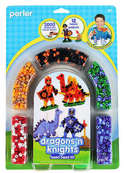 Dragons 'N Knights Fused Bead Kit EK SUCCESS Kids Craft Perler Bead NEW 80-55996