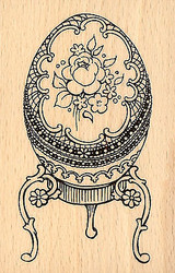 Easter Fabulous Egg Wood Mounted Rubber Stamp STAMPENDOUS P244 New