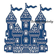 ELEGANT LACE FAIRY CASTLE DIE Craft Die Cutting Die Tattered Lace Die D305 New