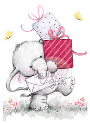 Elephant Bela with Presents Unmounted Rubber Stamp Wild Rose Studio # CL222 New