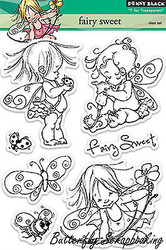 Fairy Sweet Stamp Set Clear Unmounted Rubber Stamp Set PENNY BLACK 30-151 New