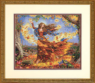 Fall Butterfly Fairy Counted Cross Stitch Dimensions Cross Stitch Kit 14x12 NEW
