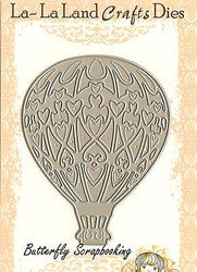 Fancy HOT AIR BALLOON American made Steel Dies by La La Land Crafts DIE 8009 New