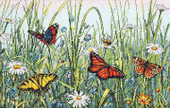 Field Of Butterflies Butterfly Counted Cross Stitch Kit Dimensions 70-35271 NEW