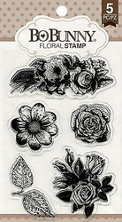 Floral FLOWERS & LEAVES Clear Unmounted Rubber Stamps Set BOBUNNY 12105894 New