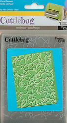 Floral Screen Flowers Embossing Folder CUTTLEBUG by Provo Craft New