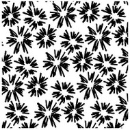 FLOWER BURST Cover A Card Background Unmounted Rubber Stamp IO Stamp CC208 New