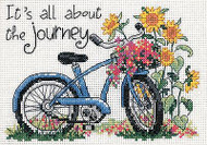 Flower Bycicle Bike Journey Counted Cross Stitch Kit Dimensions 65017 NEW