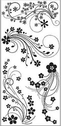 FLOWER FLOURISH Clear Unmounted Rubber Stamp Set INKADINKADO 60-30380 NEW