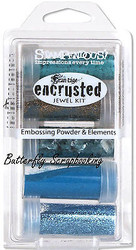 Frantage Encrusted Jewel Kit Collection TEAL Embossing & Element Stampendous NEW