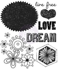 Free Spirit Collection Dream Clear Unmounted Rubber Stamp Prima Inc. 572624 New