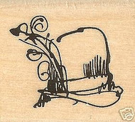 FUNNY HAT Mounted Rubber Stamp Inkadinkado Stamps NEW