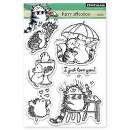 Furry Affection, Clear Unmounted Rubber Stamp Set PENNY BLACK- NEW, 30-273