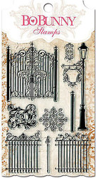 Gateway Fence Light Post Clear Unmounted Rubber Stamps Set BOBUNNY 10105427 New