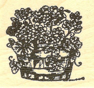 Geranium Pot, Wood Mounted Rubber Stamp NORTHWOODS - NEW, B9761
