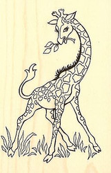 GIRAFFE Pen Pattern Wood Mounted Rubber Stamp STAMPENDOUS Stamp P259 New