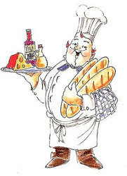 GOLDEN OLDIES Chef Luigi Cling Unmounted Rubber Stamp Art Impressions NEW