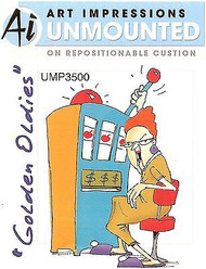 GOLDEN OLDIES Slots Jean Cling Unmounted Rubber Stamp Art Impressions NEW
