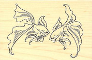 GOLDFISH Pair Pet Fish Wood Mounted Rubber Stamp STAMPENDOUS Stamp P256 New