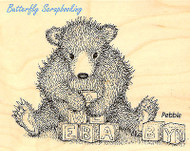 GRUFFIIES BEAR Baby Bear Blocks Wood Mounted Rubber Stamp STAMPENDOUS HGRV05 New