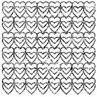 GRUNGE HEARTS Cover A Card Background Unmounted Rubber Stamp IO Stamp CC186 New