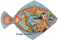 HALIBUT FISH Animal Spirit Cling Unmounted Rubber Stamp EARTH ART Sue Coccia New