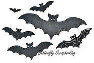 HALLOWEEN Bat Family Dies Steel Die Cutting Dies CHEERY LYNN DESIGNS B596 New