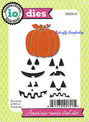 Halloween Pumpkin Jack Set American Steel Dies Impression Obsession DIE094-U New