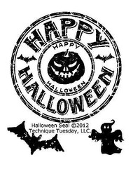 HALLOWEEN Small Stamp Set Clear Unmounted Rubber Stamps TECHNIQUE TUESDAY New