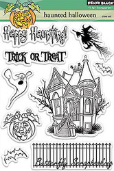 HALLOWEEN Stamp Set Clear Unmounted Rubber Stamp Set PENNY BLACK 30-184 New