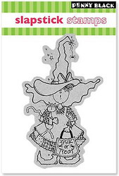 Halloween TREATIN WITCH Cling Style Unmounted Rubber Stamp PENNY BLACK 40-035