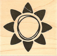 Happy Sunshine, Wood Mounted Rubber Stamp IMPRESSION OBSESSION - NEW, D9627