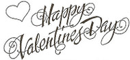 Happy Valentines Day Text, Wood Mounted Rubber Stamp NORTHWOODS - NEW, J171