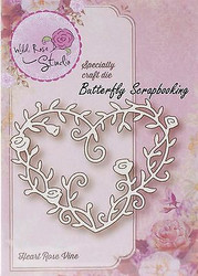 Heart Rose Vine Creative Steel Die Cutting Dies WILD ROSE STUDIO SD039 New
