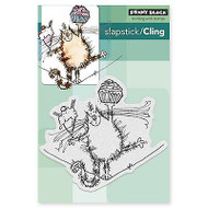 High Wire Kitty, Cling Style Unmounted Rubber Stamp PENNY BLACK - NEW, 40-392