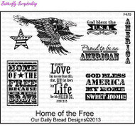 Home Of The Free, Cling Style Unmounted Stamp Set DAILY BREAD DESIGNS -NEW, F470
