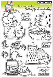 HOMEMADE Sweet Stamp Set Clear Unmounted Rubber Stamp Set PENNY BLACK 30-119 New