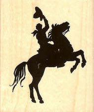 Horse And Rider, Wood Mounted Rubber Stamp STAMPENDOUS, NEW - V306