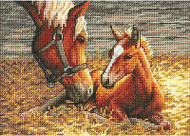 Horse Good Morning Gold Collection Dimensions Cross Stitch Kit 70-65119 NEW