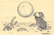HOUSE MOUSE Beach Toss Ball Wood Mounted Rubber Stamp STAMPENDOUS HMP14 New