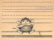 HOUSE MOUSE Chalk It Up Wood Mounted Rubber Stamp STAMPENDOUS HMR20 New