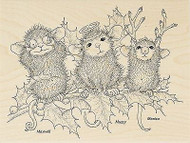 HOUSE MOUSE Christmas Characters Wood Mounted Rubber Stamp STAMPENDOUS HMR36 New