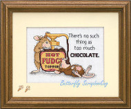 House Mouse Hot Fudge Counted Cross Stitch Dimensions Cross Stitch Kit NEW